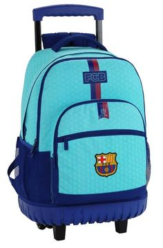 Safta Mochila Escolar Grande Con Ruedas F.C. Barcelona 2ª Equipacion 17/18 Oficial 320x140x460mm: Amazon.es: Equipaje Mochila Trolley, Fc Barcelona, Hiking Backpack, Premier League, Under Armour, 21st, Backpacks, Turquoise, Mini