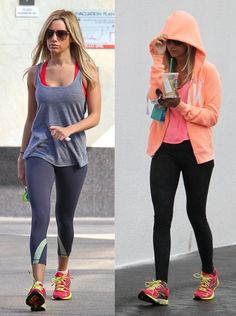 Celebrities at the Gym : What They Wear - Vive la Mode ashley tinsdale