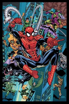 Image result for spider-man villains poster