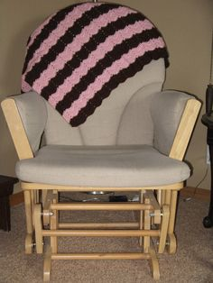 Pink and brown handmade crochet blanket by BlanketHub on Etsy, $40.00