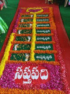 Desi Wedding Decor, Wedding Stage Decorations, Wedding Mandap, Backdrop Decorations, Wedding Crafts, Telugu Wedding, Naming Ceremony Decoration, Marriage Decoration, Simple Flower Rangoli