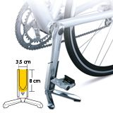 Fits road bikes with crankarm dimension : ≤ 35 x 14 x 80 mm ( L x D x H ). Bike Work Stand, Bike Stands, Cycle Storage, Chain Reaction, Cycling Accessories, Road Bikes, House, Ideas, Bike Floor Stand