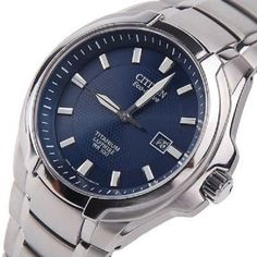 New-Mens-Citizen-Eco-Drive-Titanium-Sapphire-WR-100-Blue-Dial-BM7170-53L