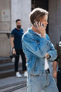 Less is more. Double denim.