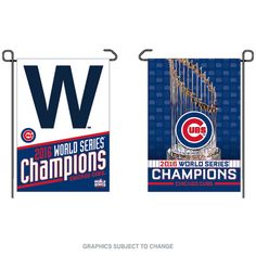 Chicago Cubs World Series Champions Double-Sided Garden Flag by Wincraft #Chicago #ChicagoCubs #Cubs #WorldSeries