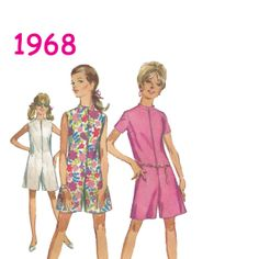 1960s Vintage Pantdress Romper Sewing by SerendipityUnlimited, $5.00