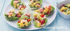 Mini sla met garnalen en mango - Leuke recepten