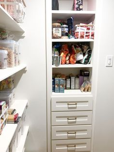 """I spent most of Saturday tackling my pantry. It was a MESS and needed some major TLC! Luckily after lots of work and a few moments of """"what was I thinking?"""" I felt better and it was finished! For me, the past few months of being stuck at home has taken a toll on our house. It's become much more cluttered and chaotic and the pantry was just one example of a messy space! If you're needing to tackle your pantry, then today's post is for you! I'm sharing all of my pantry organization essentials! Cereal Containers, Fancy Kitchens, What Was I Thinking, Ashley Home, Love Home, Pantry Organization, Kitchen Design, Essentials, Felt"""