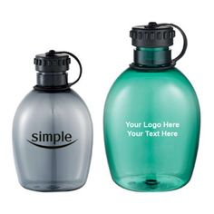 "Promotional 32 Oz Arc Camping Bottles: Available Colors: Hunter Green, Smoke. Product Size: 7.25"" H. Imprint Area: 2.00"" H x 2.00"" W Carton Weight: 11 lbs. Product Packaging: 30 pieces. #customwaterbottle #promotionalproduct #camping #picnic"