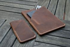 iPad Mini and iPhone Handmade Leather Case / by grams28