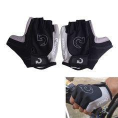 gloves Cycling Bicycle Bike Gloves Cool Men Sports Half Finger Anti Slip Gel Gloves Plus Size S-XL 3 Colors EA14