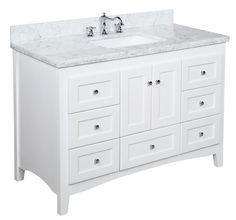 Abbey 48-inch Vanity (Carrara/White) – KitchenBathCollection