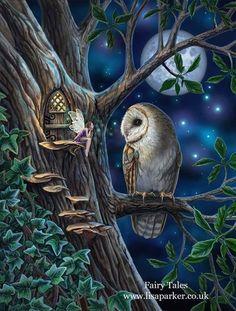 Fairy Pictures, Owl Pictures, Bd Pop Art, Owl Artwork, Fairytale Art, Fairy Art, Fantasy Artwork, Mythical Creatures, Faeries