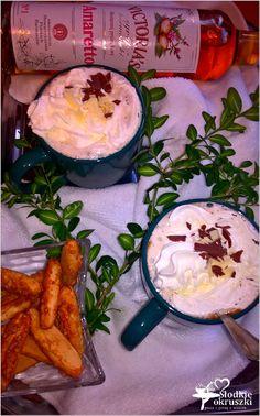 Kawa słodkie amaretto. Przepis na pyszną kawę. Camembert Cheese, Ice, Chocolate, Coffee, Recipes, Kaffee, Chocolates, Cup Of Coffee
