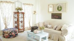 Transforming a room with little or NO money.  www.whitelacecottage.com