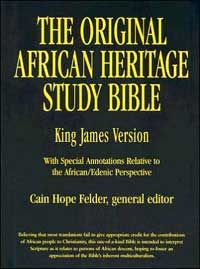 The Original African Heritage Study Bible - Black Imitation Leather - Offers a number of unique features which reveal the African/Edenic contribution to Judaism and Christianity.#africanbookstore