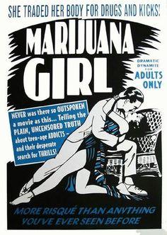 marijuana posters Vintage