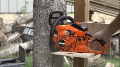A Brilliant DIY Solution for Chainsawing Logs in Half