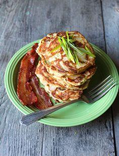 Bacon and Scallion Paleo Pancakes - Naked Cuisine