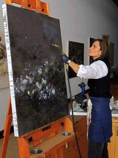 Encaustic Artist Betsy Eby in Studio
