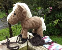 Horse Amigurumi Pattern With Removable Saddle by LisaJestesDesigns