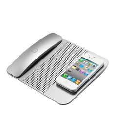Silver Cordless Bluetooth Handset- turn your iPhone into a cordless home phone