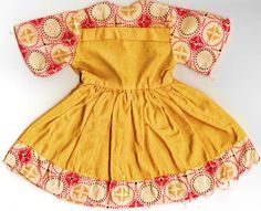 1940s Flour Sack Doll Dress