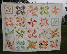 This quilt is so cute! Wish it had a tutorial or more info on a pattern