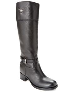 Prada Leather Moto Boot is on Rue. Shop it now.