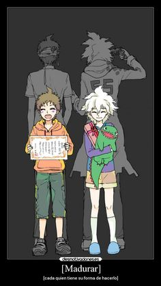 Ship: Komahina (Hajime Hinata and Nagito Komaeda) Anime/Game: Danganronpa We know already about the big boys. But did you ever thought how they were as kids? Well then, this fanfic might be perfect for you! Fanart, Hinata, Geeks, Haikyuu, Super Danganronpa, Nagito Komaeda, Trigger Happy Havoc, Danganronpa Characters, Fan Fiction
