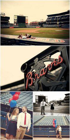 Atlanta Braves Engagement – BerryTree Photography | Atlanta GA | Wedding Photographer