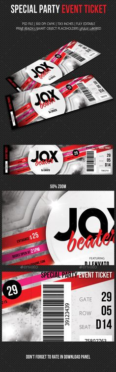 Sports Event Ticket Sports, Event tickets and Ticket - design tickets template