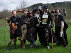 Steampunk Costume Group by BlameTheEconomy - steampunk people, steampunk guys, steampunk cosplay, steampunk wear, steampunk clothes - Steampunk pictures