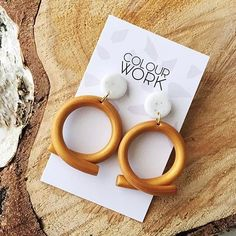 DIY geometric shape earrings