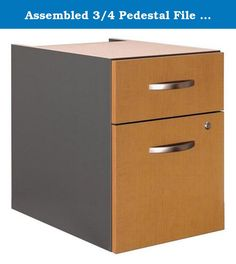 """Assembled 3/4 Pedestal File in Mocha Cherry - Series C. The austere and elegant silvery pulls fashionably contrast with the opulent warmth of the classically inspired Mocha Cherry finish. The front lock on the file drawer secures both it and the upper office supply drawer for privacy and security. Mounts to left or right side of Bow Front Desk, Desk 72"""" or Desk 66"""". One box and one file drawer for storage needs. File drawer has full-extension ball bearing slides and accepts letter or..."""