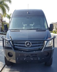 Aluminum Front Winch Bumper for the Mercedes Sprinter. Mercedes Camper, Mercedes Sprinter Camper, Benz Sprinter, Best Campervan, Popup Camper, Camper Van, Automobile, Winch Bumpers, Sprinter Van Conversion