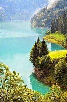 Turquoise Lake, Italy