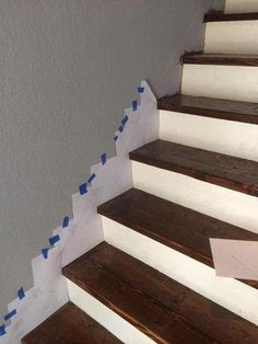 How to make a skirt board for preexisting stairs. How to make a skirt board for preexisting stairs. Stairs Skirting, Stairs Trim, Stair Trim Ideas, Open Stairs, Basement Steps, Basement Plans, Escalier Design, Staircase Remodel, How To Make Skirt