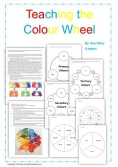 The colour Wheel: This resource is a fun way to teach children about the primary, secondary and tertiary colours. Includes colour wheels and ideas for teaching...9 pages.