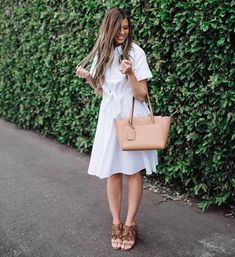 If you're a fashion rule follower you only have 7 more days to wear all the white before Labor Day revokes your privileges! 😜\r\n\r\nSee my roundup of all the prettiest white dresses on the internets at \r\nmintarrow.com/whitedress #whitedress #laborday #mintarrow #ShopStyleCollective #MyShopStyle Casual Summer Evening Outfit, Evening Outfits, Pretty White Dresses, Dress Up, Shirt Dress, Day, How To Wear, Shirts, Shopping
