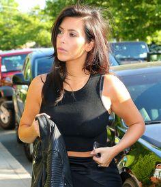 June 28, 2014- Kim Kardashian out for dinner in Sag Harbor, NY.