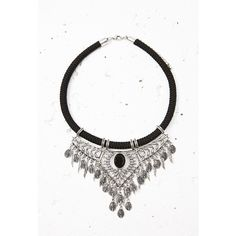 Forever 21 Etched Statement Necklace ($15) ❤ liked on Polyvore