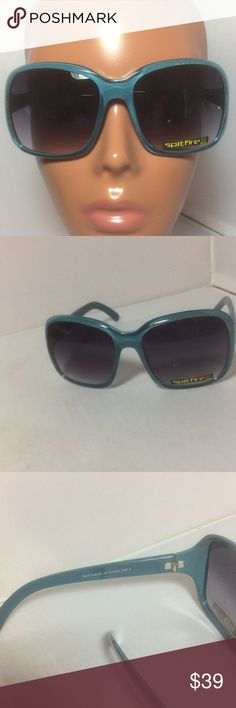 New Spitfire Blue Square Gradient Sunglasses New Spitfire Blue Square Sunglasses brand new with label on left lens. The style name is Dutchess Sun protection UV400 will come in new leopard pouch with gradient gray lenses . Color is a muted turquoise. NO TRADES EVER Spitfire Accessories Sunglasses