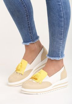 Mocasini cu platforma Iliyana Bej Slip On, Sneakers, Shoes, Fashion, Shoe, Tennis, Moda, Slippers, Zapatos