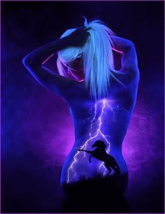 John Poppleton uses UV body paint to create scenes of nature and space, and then brings them to life under a black light. This Artist Uses The Human Body As A Canvas For His Black Light Art The Human Body, Face And Body, Human Eye, Tattoo Odin, Uv Tattoo, Tattoos, Fantasy Kunst, Airbrush Art, Foto Art