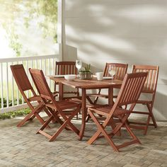 Monterry 7 Piece Rectangular Wood Dining Set - http://diningsetspot.com/monterry-7-piece-rectangular-wood-dining-set-725114382/