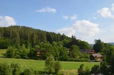 Another view of the Black Forest with farm houses, forest, and fields