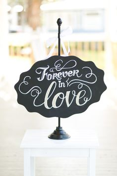 If you had a wedding sign at your wedding -- what would it say?? See more of this inspiration shoot on #smp right here: http://www.StyleMePretty.com/southeast-weddings/2014/04/18/raspberry-striped-wedding-inspiration/ -  AmalieOrrangePhotography.com | Inspiration Design by Table6Productions.com
