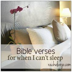 Bible verses for when I'm having trouble sleeping...