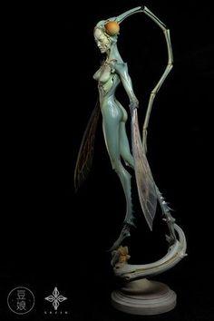 Fantasy   Whimsical   Strange   Mythical   Creative   Creatures   Dolls   Sculptures   ☥   ArtStation - 豆娘, sazen lee